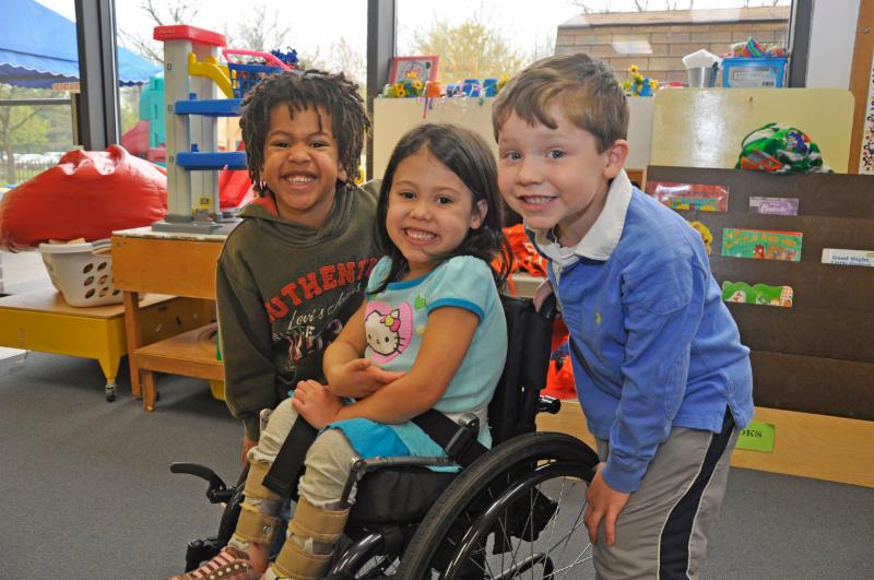 photo of three preschool children