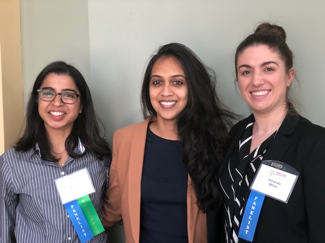 From L to R: Renuka Rege (Public Justice Center), Neeta Pal (Maryland Office of Public Defender) and Amanda White (Disability Rights Maryland)