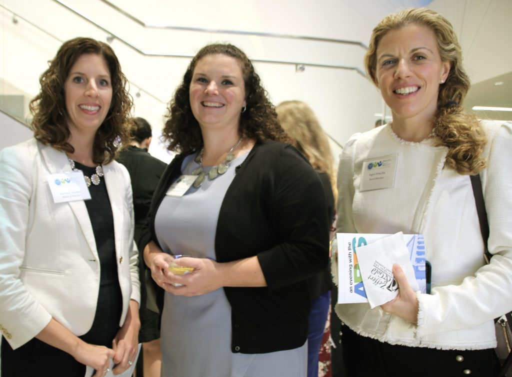 L to R: DRM Board President Kim Fusco, Board Treasurer Rebecca Sinclair, and Board Member Regina Kline.