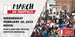 2019 March on Annapolis Banner