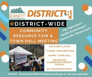District 8 Community Resource Fair and Town Hall Meeting - May 4, 2019