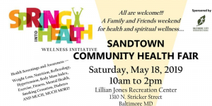 Sandtown Community Health Fair Logo